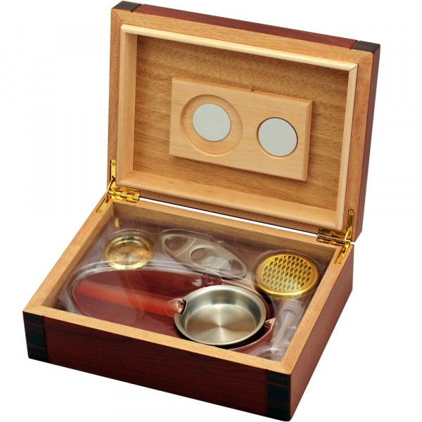 Humidor Set Cherry/Black
