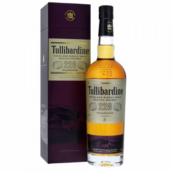 Tullibardine Whisky 228 Burgundy Finish 70cl