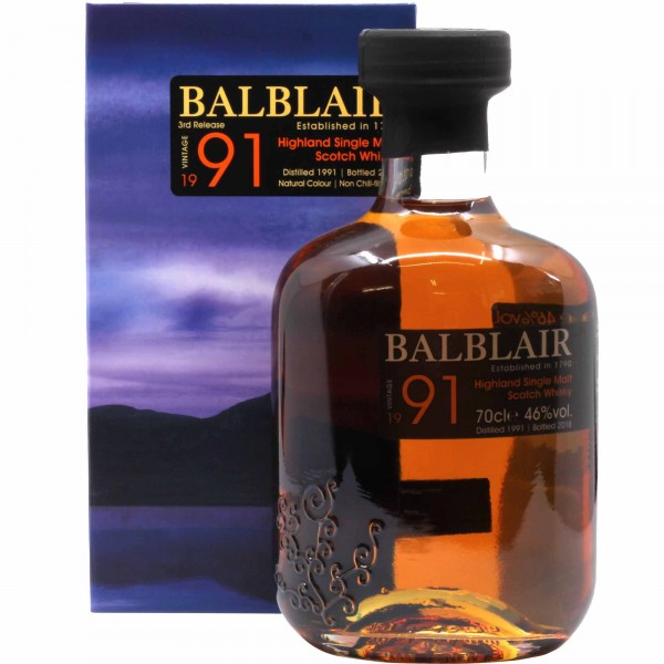 "Balblair 1991 ""New Release"" Whisky"